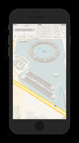 Apple Park Campus in Apple Maps