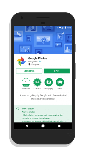 Google Photos in the Play Store