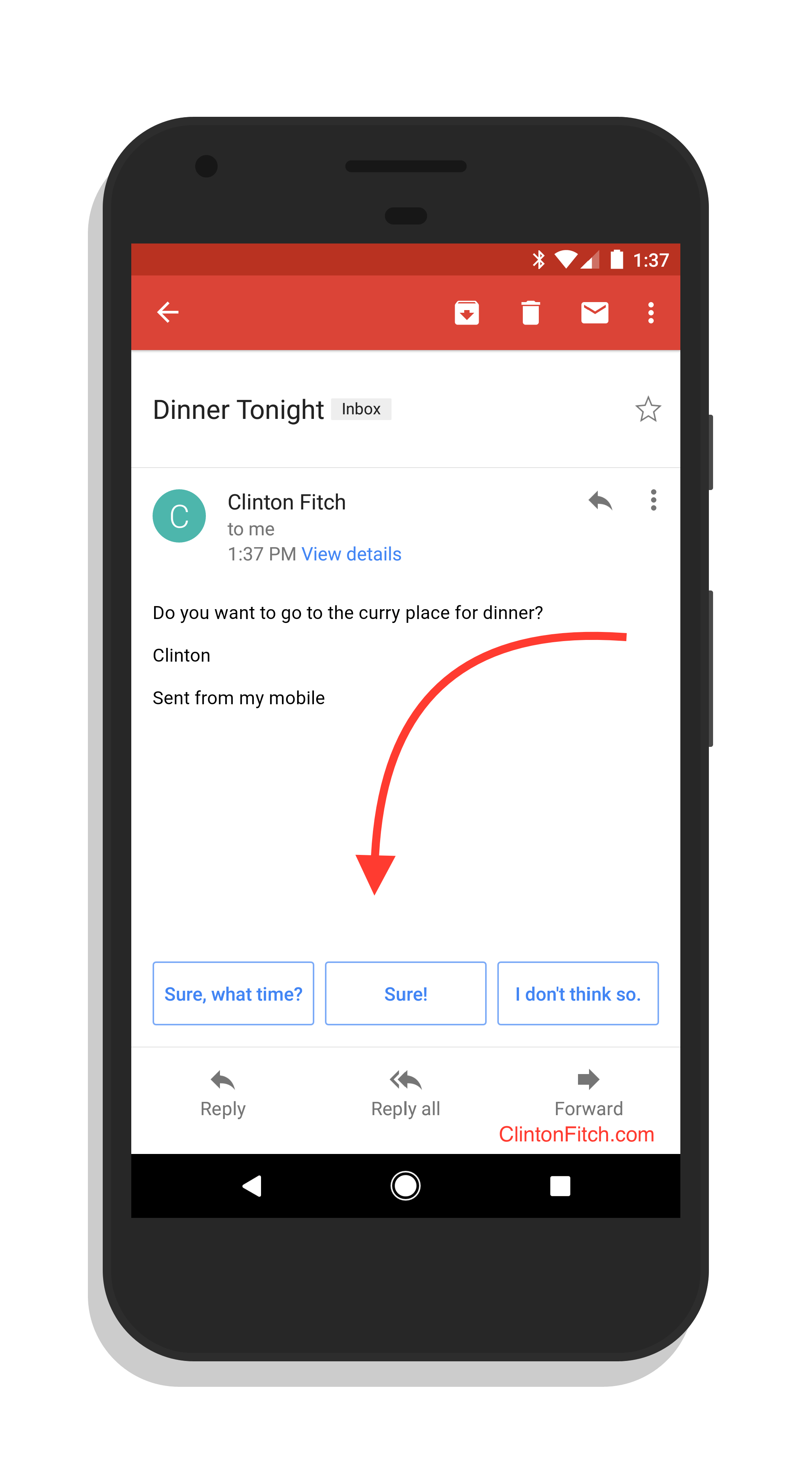 Smart Replies in Gmail