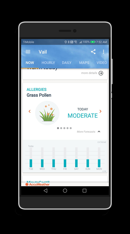 AccuWeather Platinum 7-Day Allergy Forecast