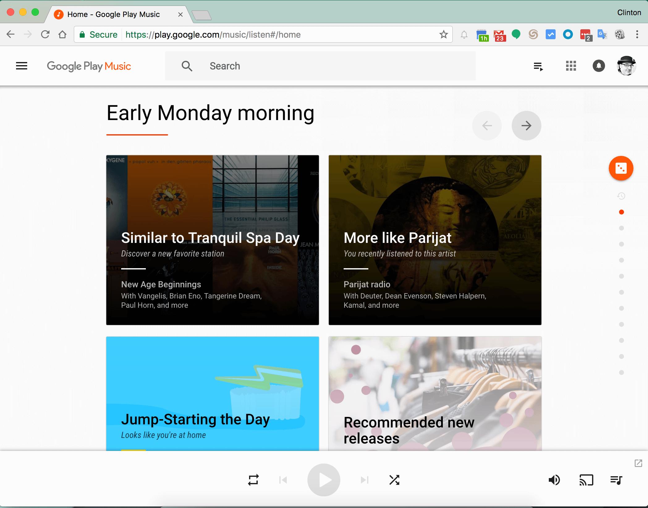 Google Play Music Site