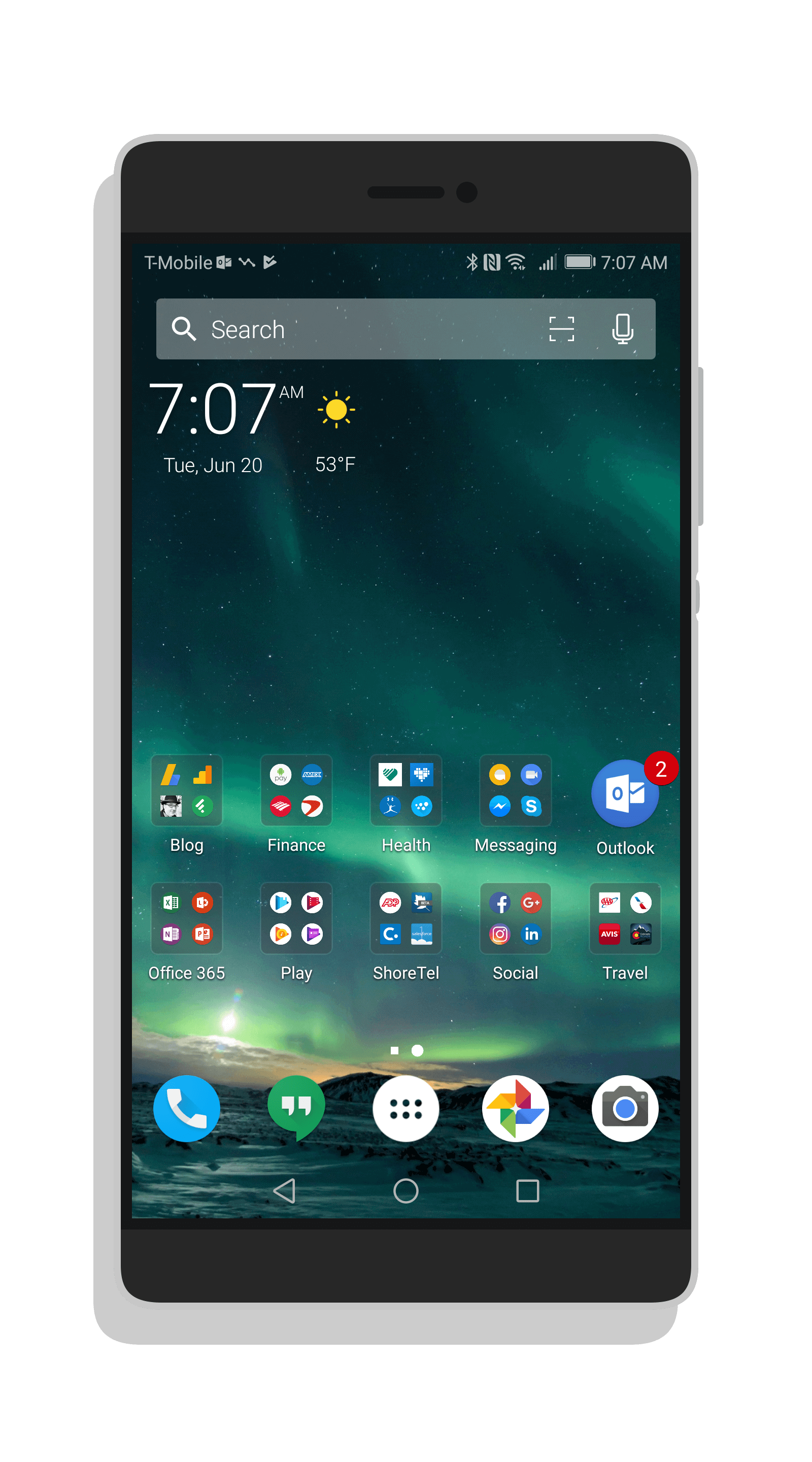 Microsoft Arrow Launcher - Huawei P10