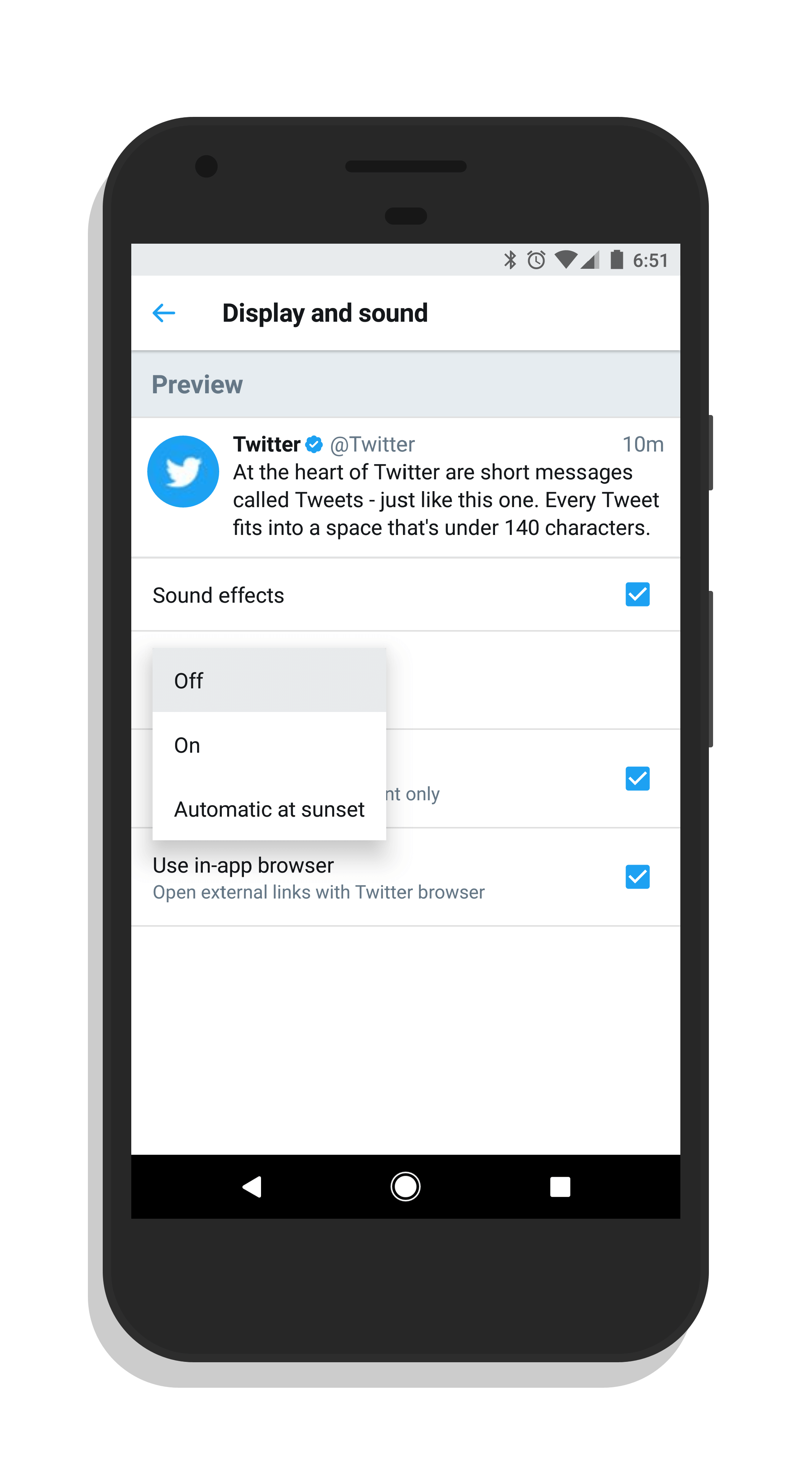 Twitter Automatic Night Mode