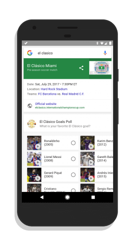 Google Search El Clasico Results