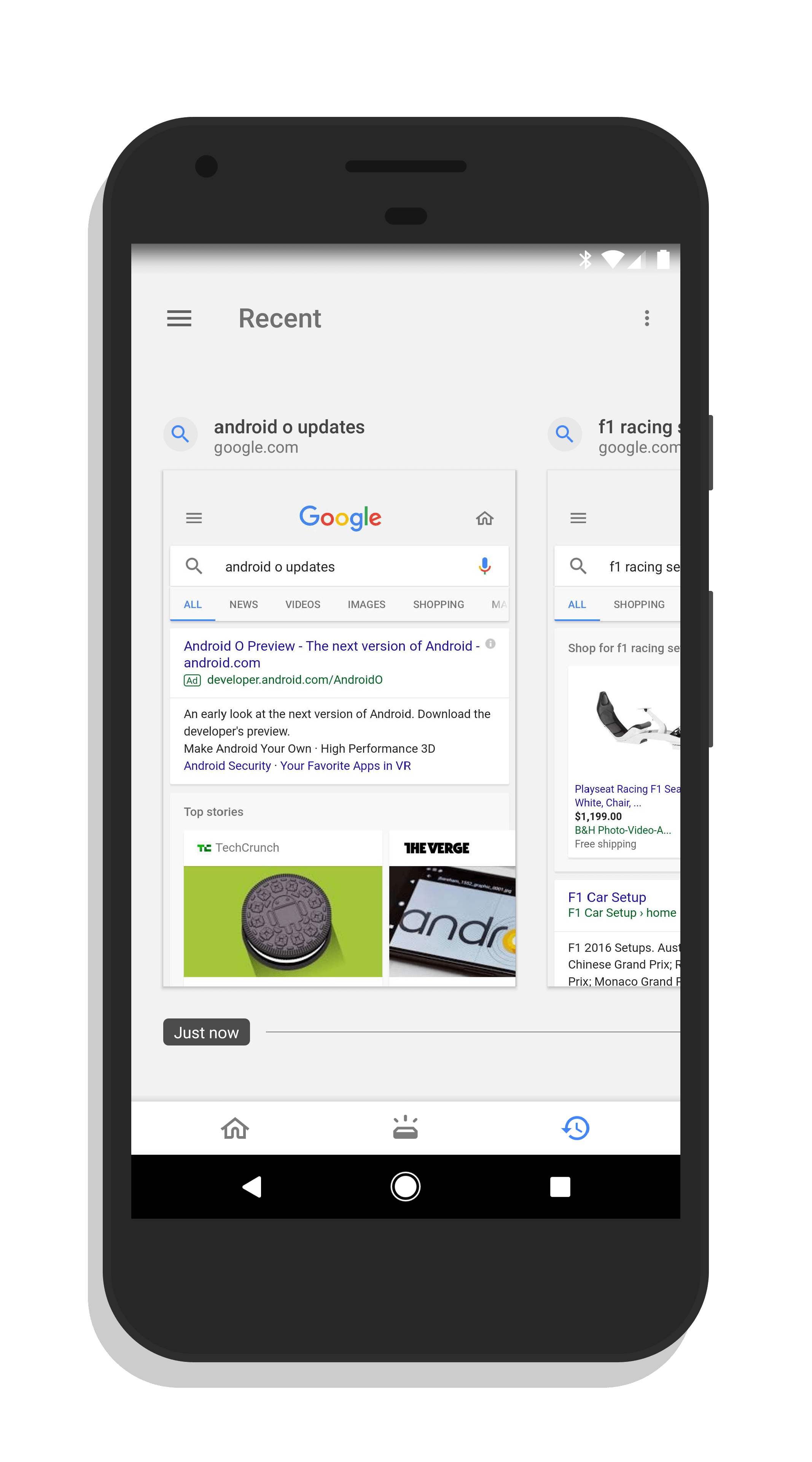 Recent Tab in Google Feed