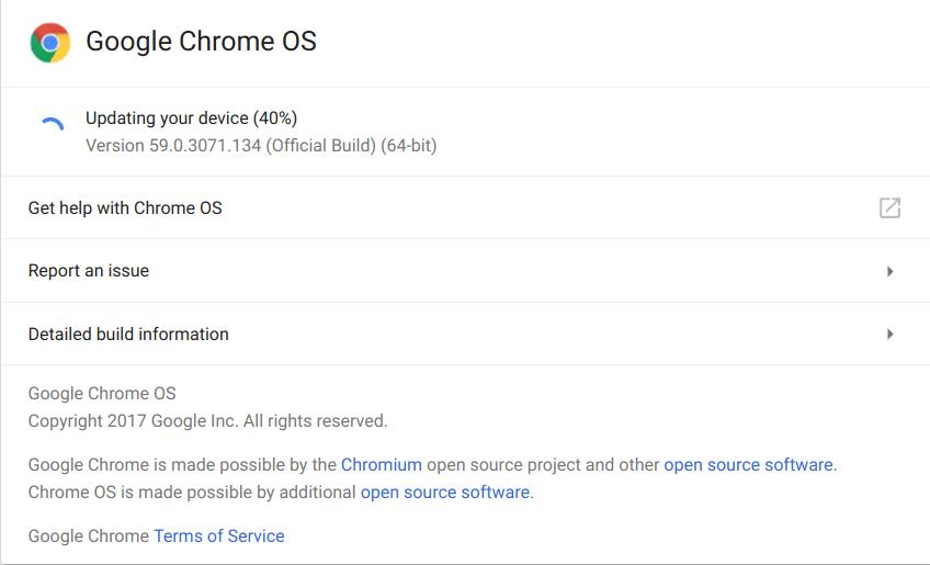 Chrome OS Build 60