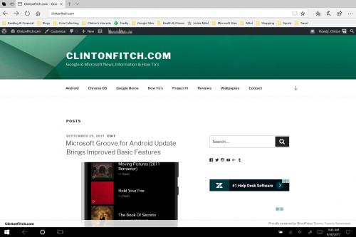ClintonFitch.com in Microsoft Edge