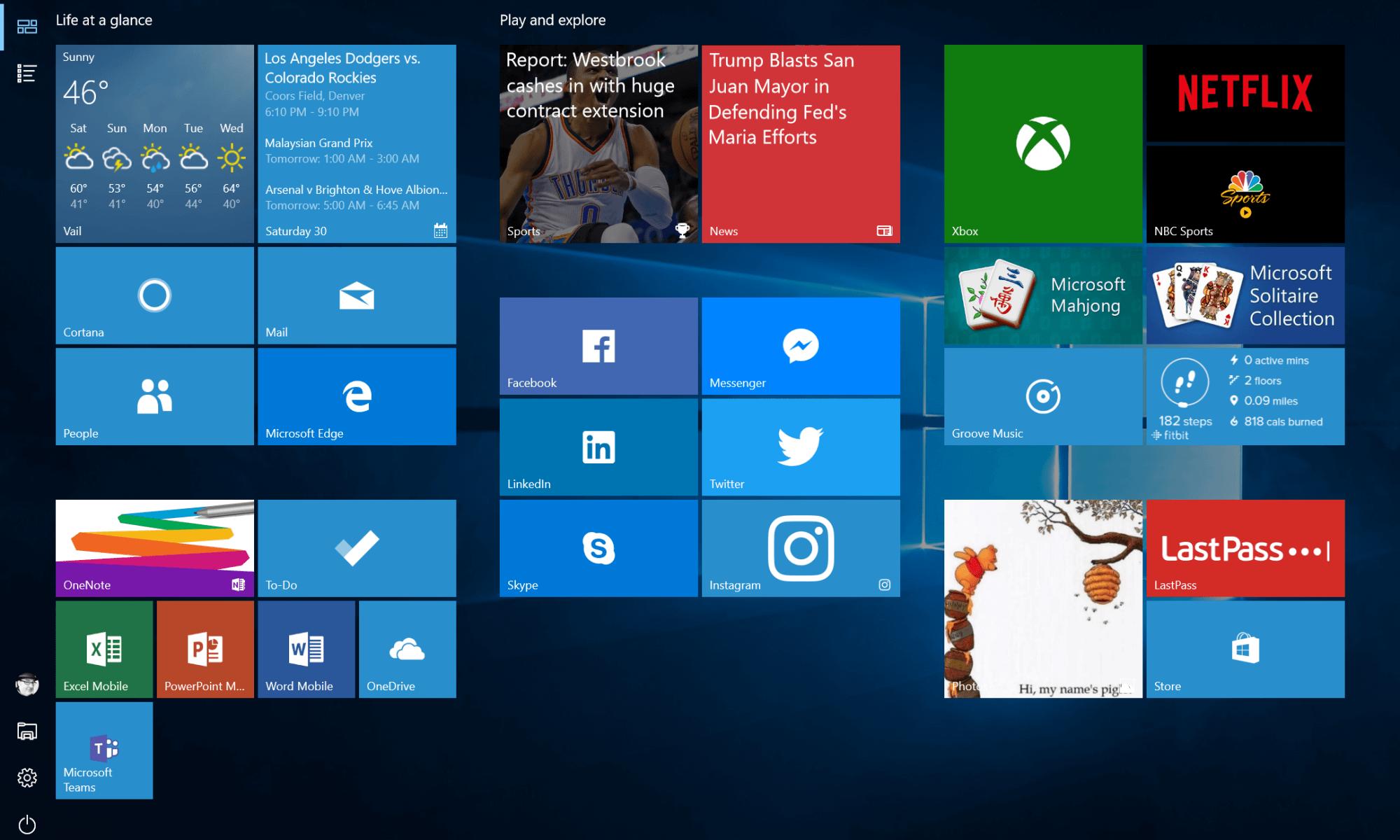 My Windows 10 Desktop