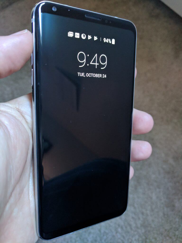 Ambient Display of the LG V30
