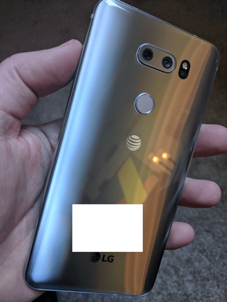 Back of the LG V30