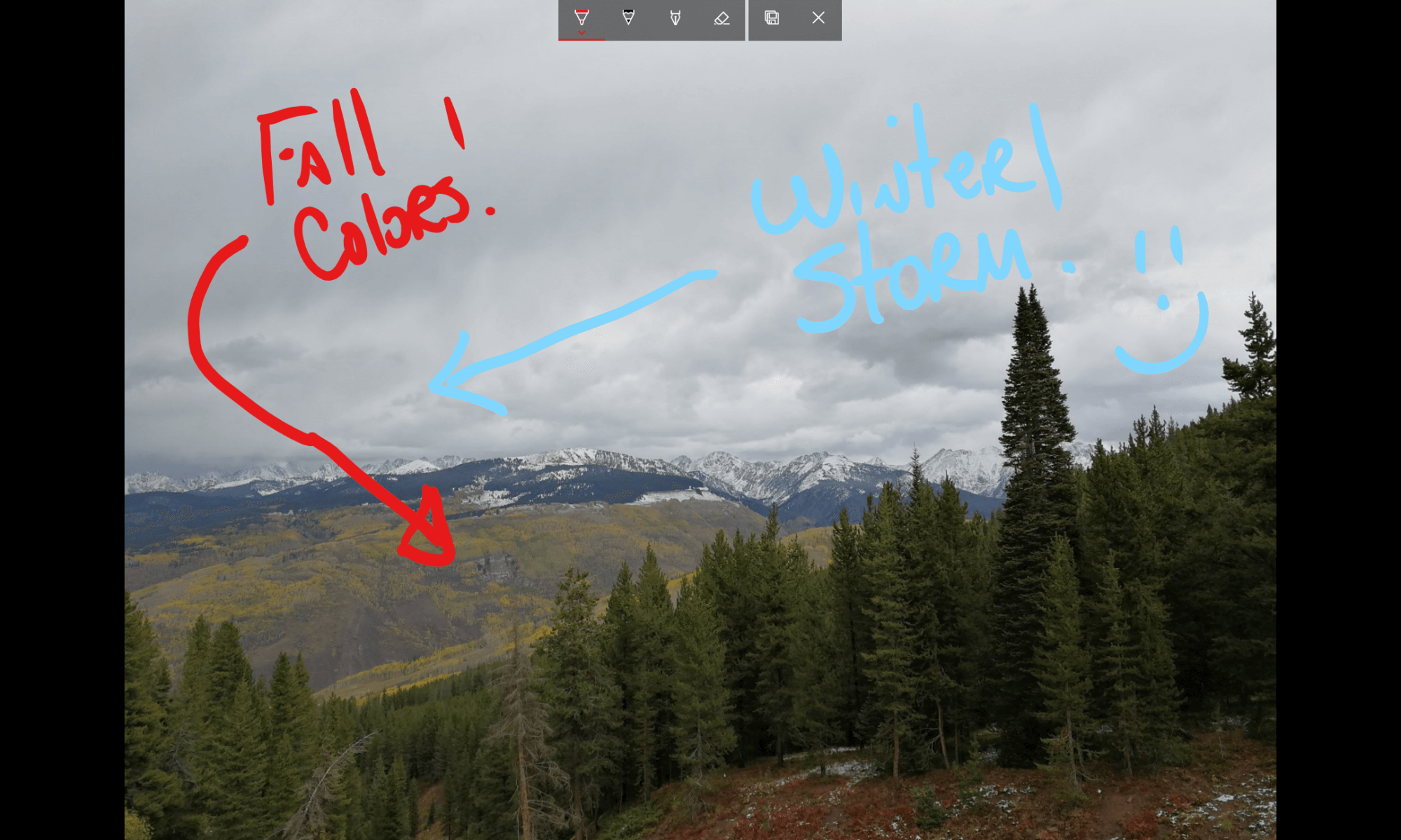 Drawing in Microsoft Photos