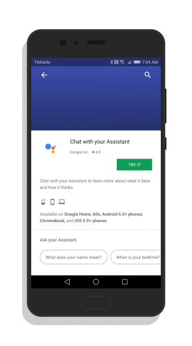 Google Assistant in Google Home App
