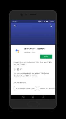 Google Assistant in Google Home App
