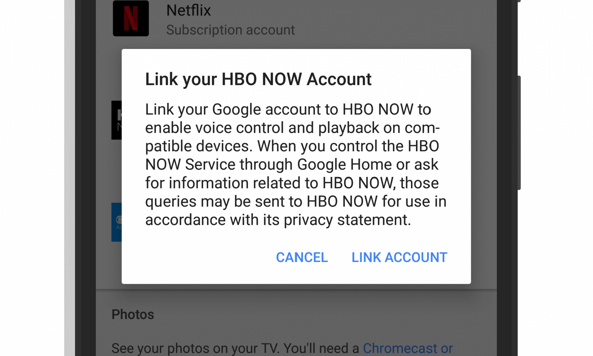 HBO Now Support in Google Assistant