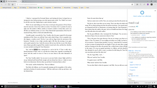 Improved eBook Reading in Microsoft Edge