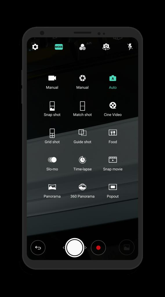 LG V30 Camera Modes