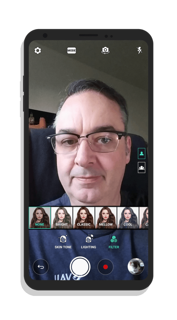 LG V30 Selfie Camera Modes
