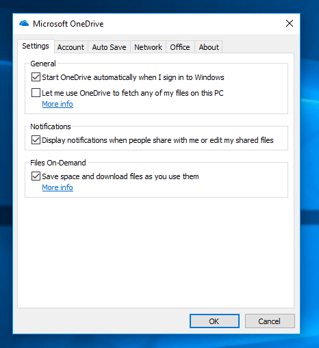 OneDrive Files on Demand