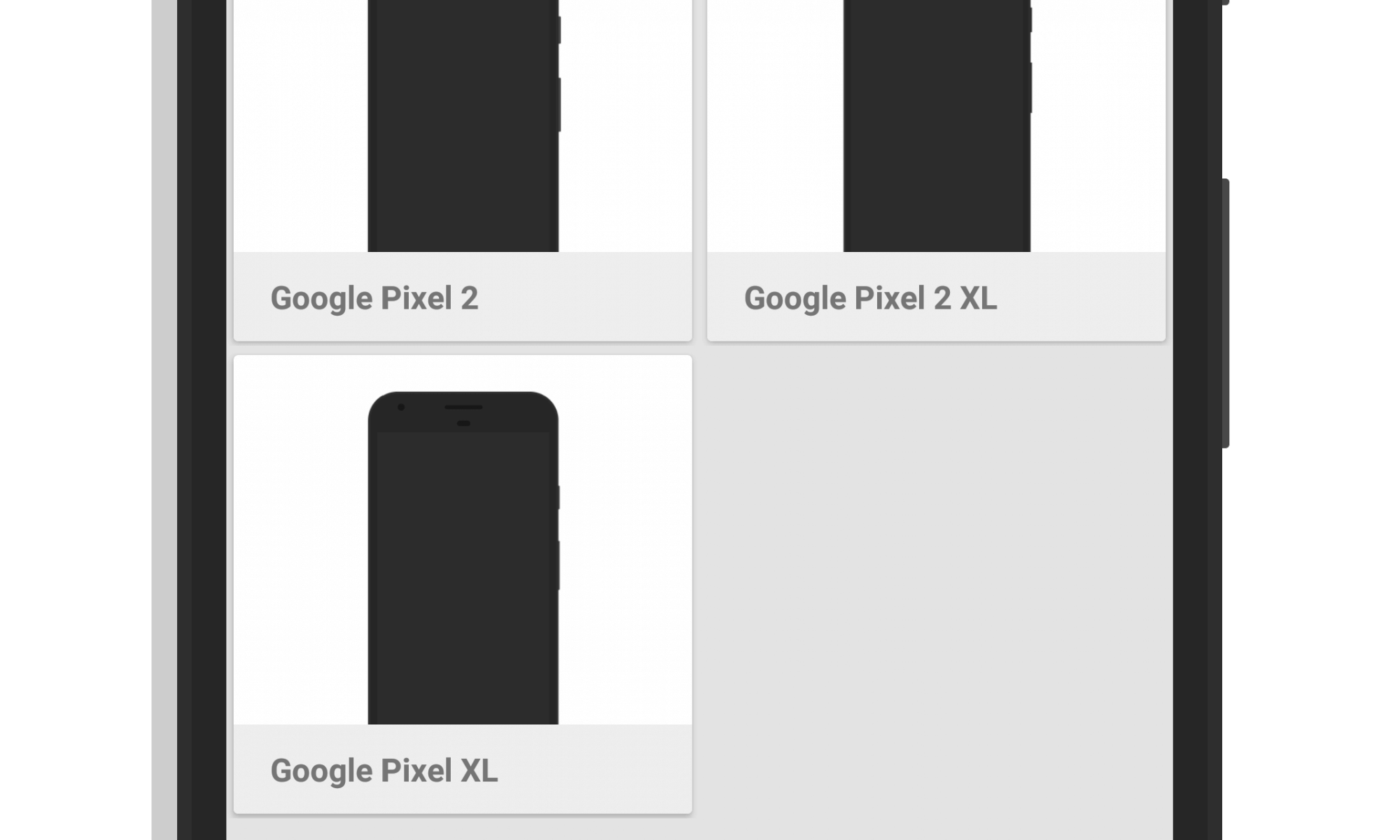 Screener Google Pixel 2 Frames