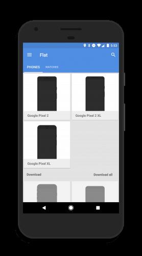 Screener Google Pixel 2 Frames