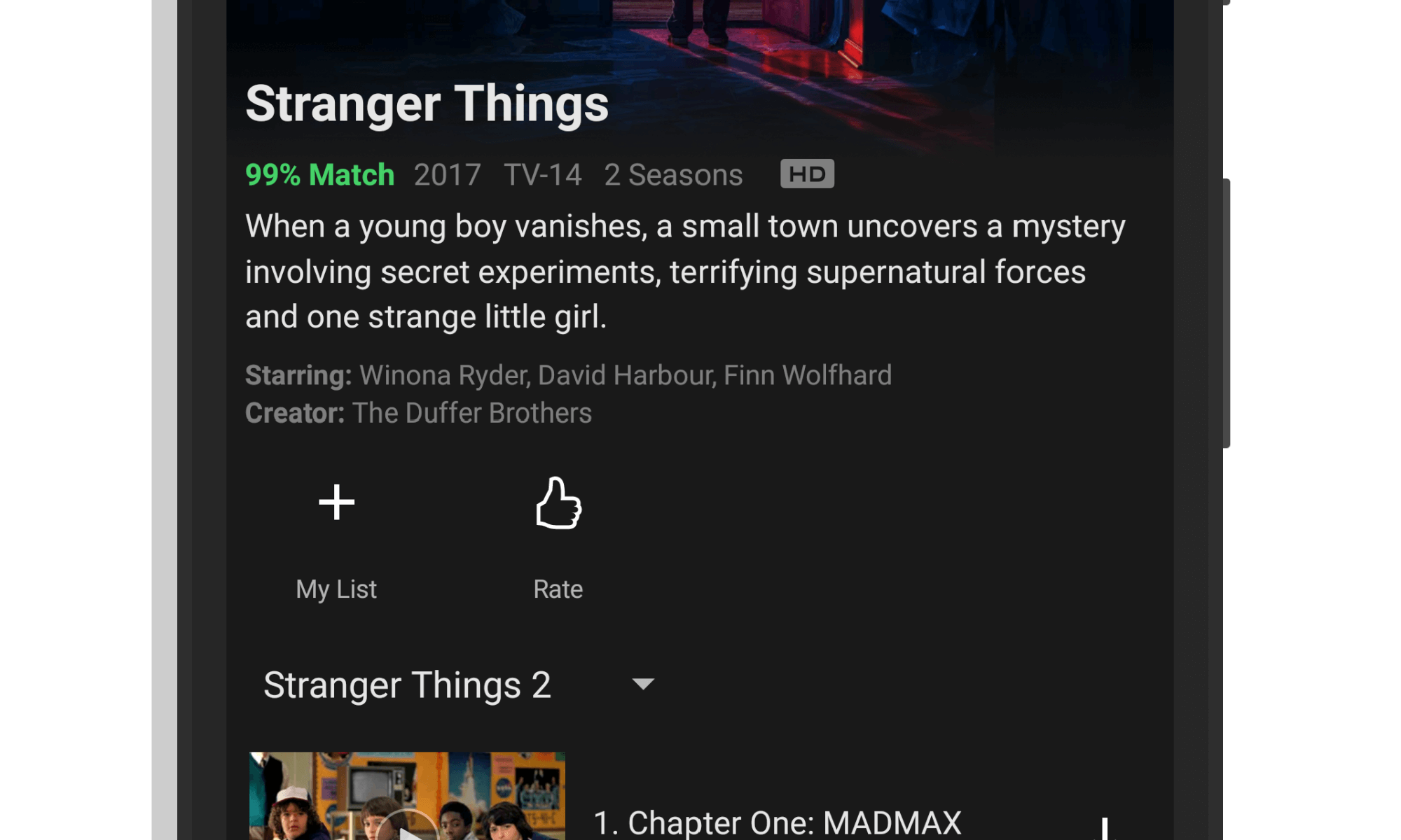 Stranger Things Season 2 on Netflix