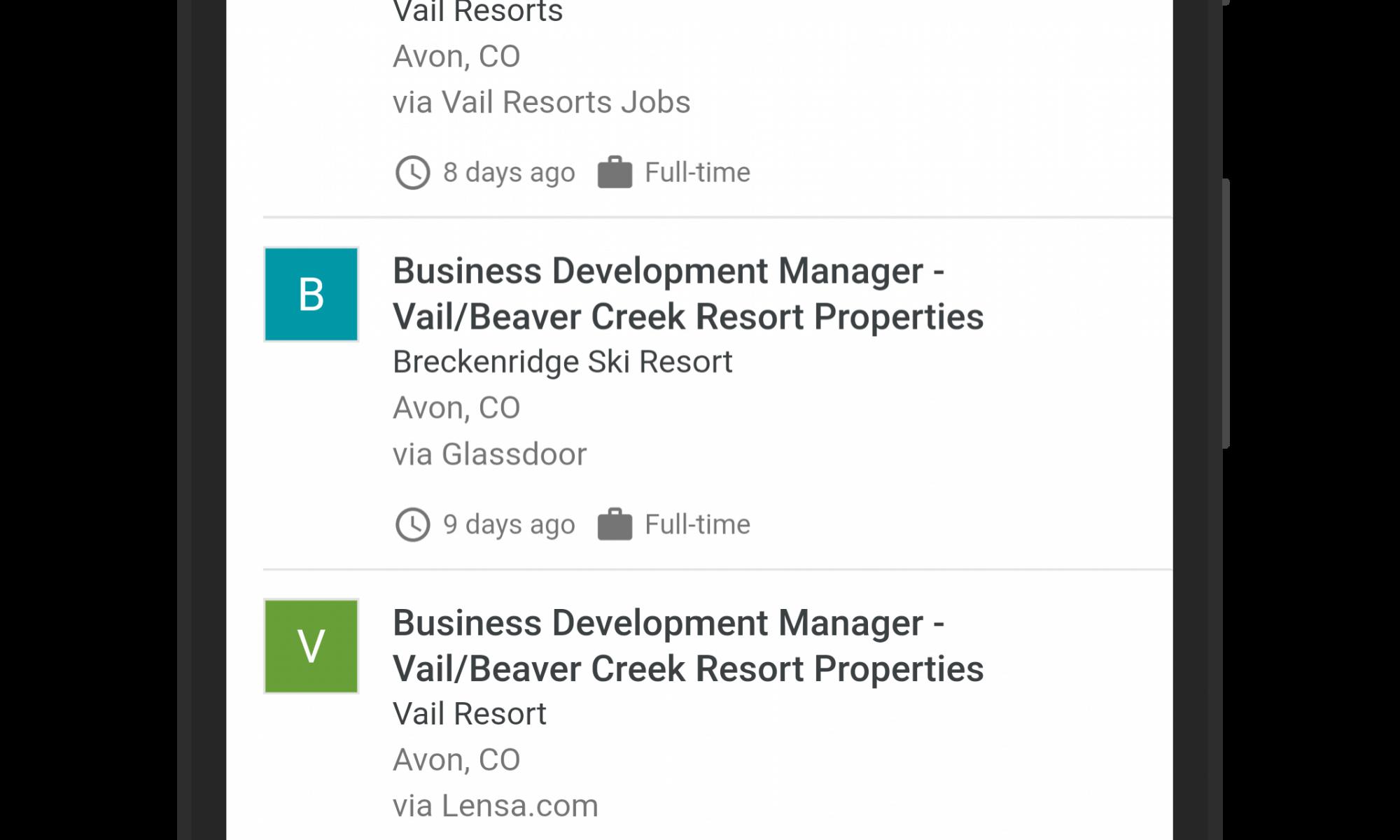 Google Search Job Search Information