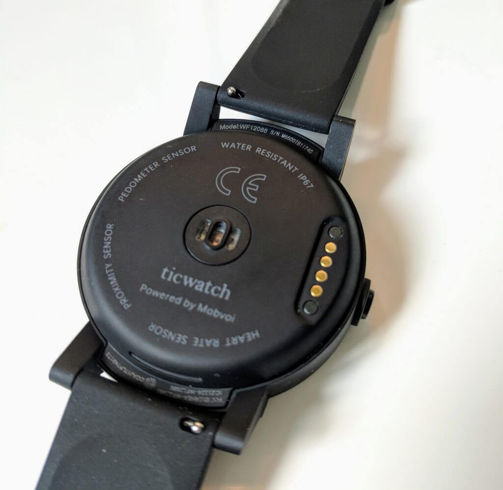 Back of the Ticwatch E