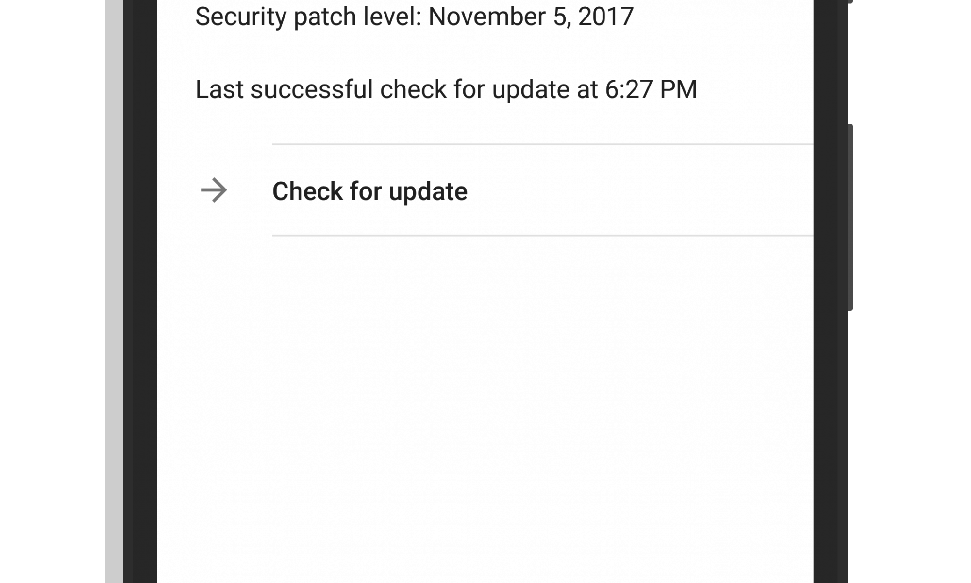Check for Update on Google Pixel XL