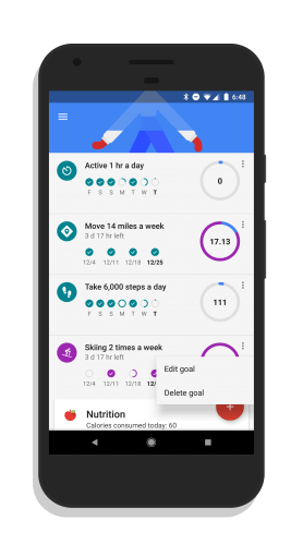 Deleting a Goal in Google Fit