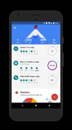 Goals in Google Fit