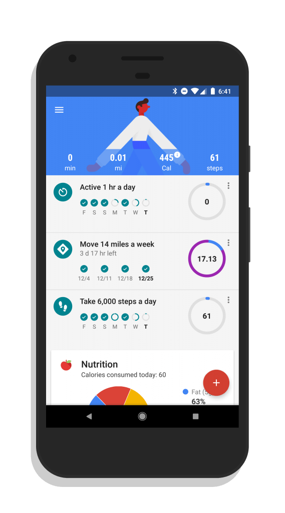 Goals in Google Fit