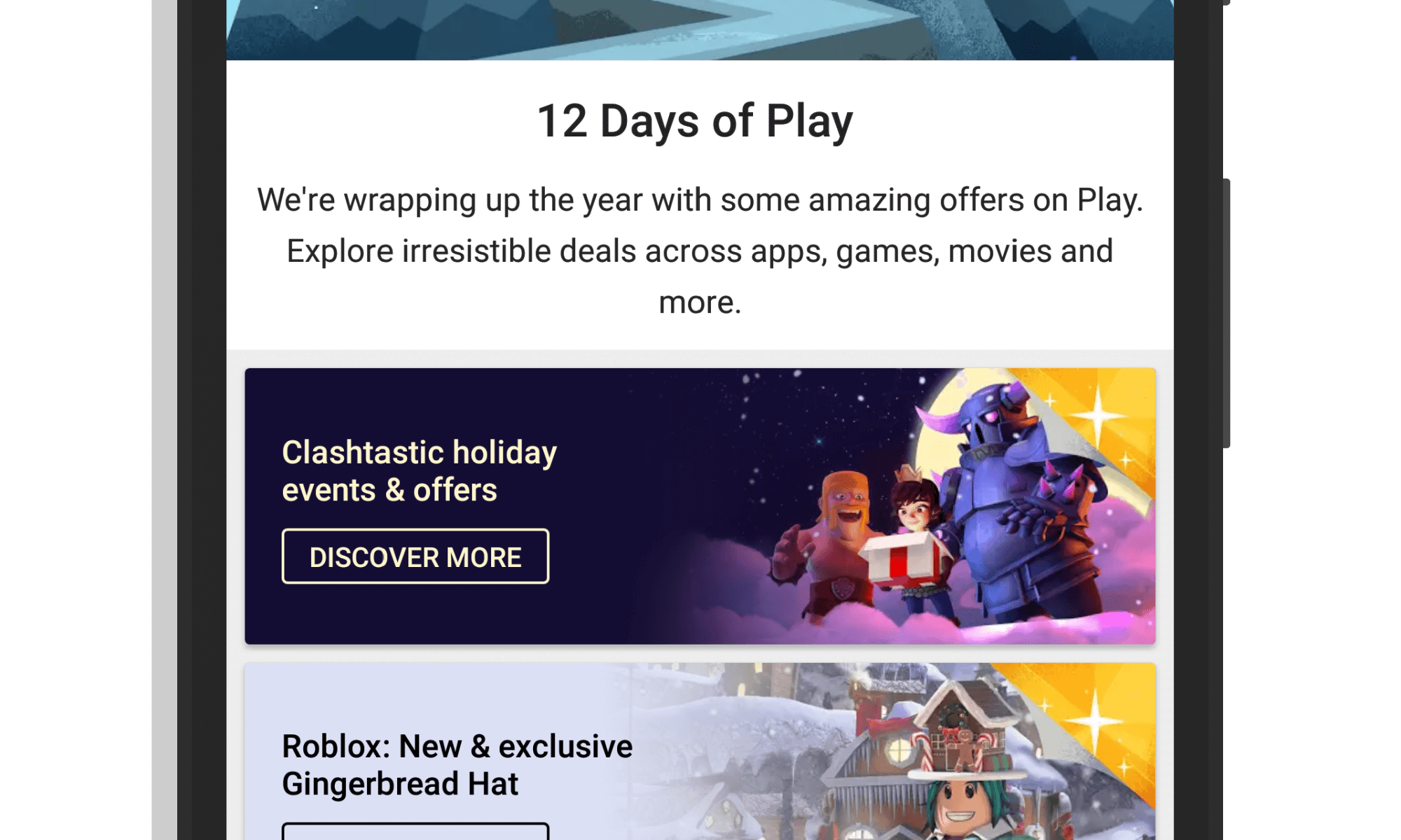 Google 12 Days of Play Promotion