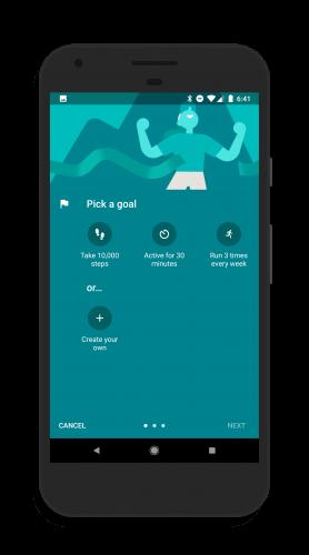 Standard Goals in Google Fit