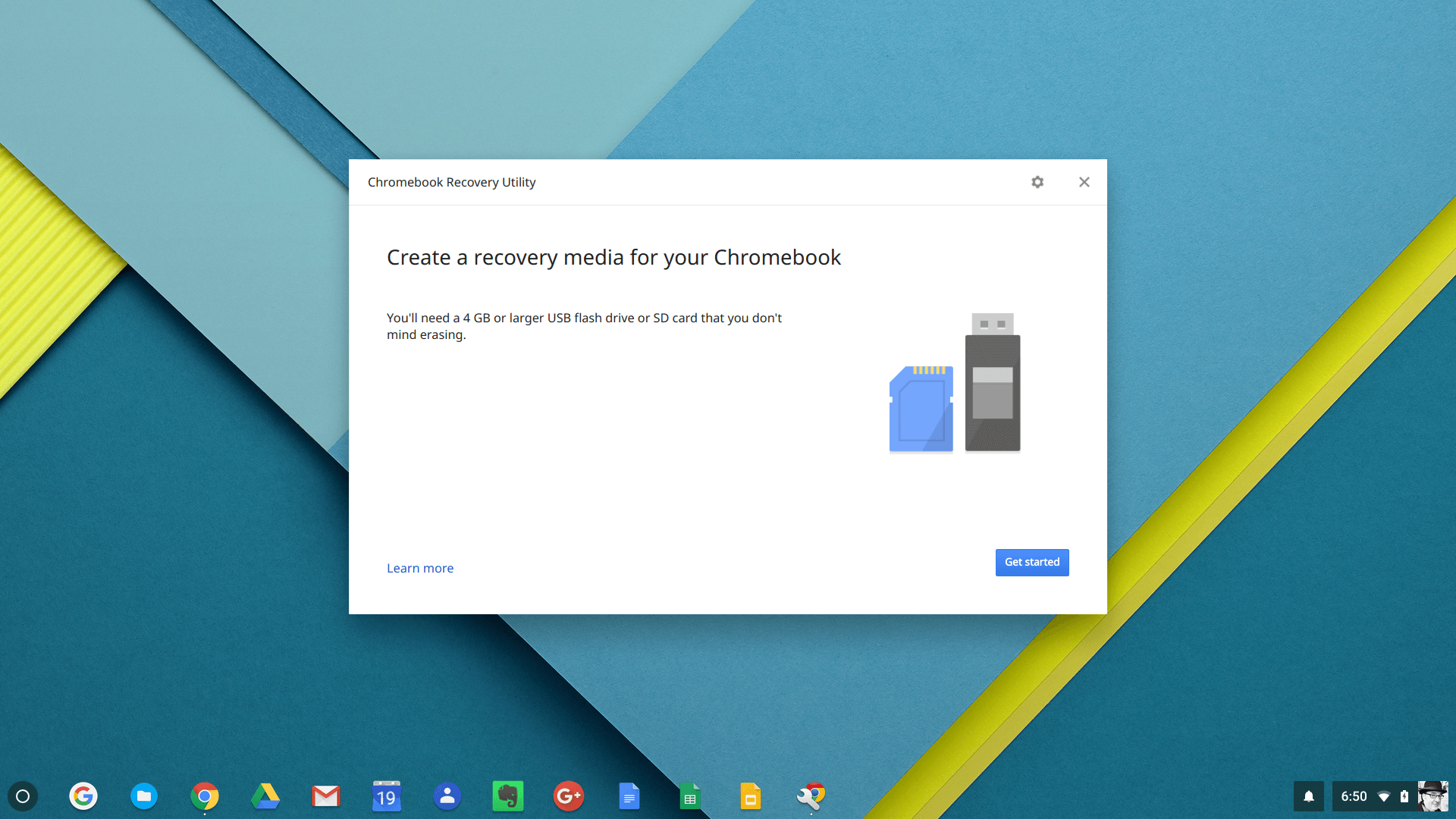Step 1 of Creating a Chromebook Recovery Drive