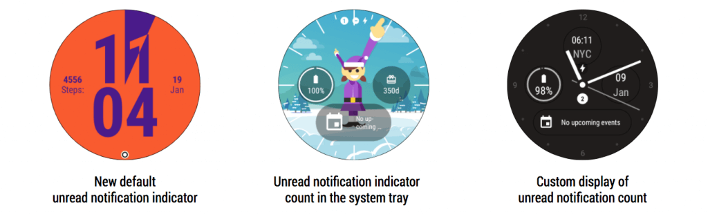 Android Wear 2.9 Unread Notification Indicators