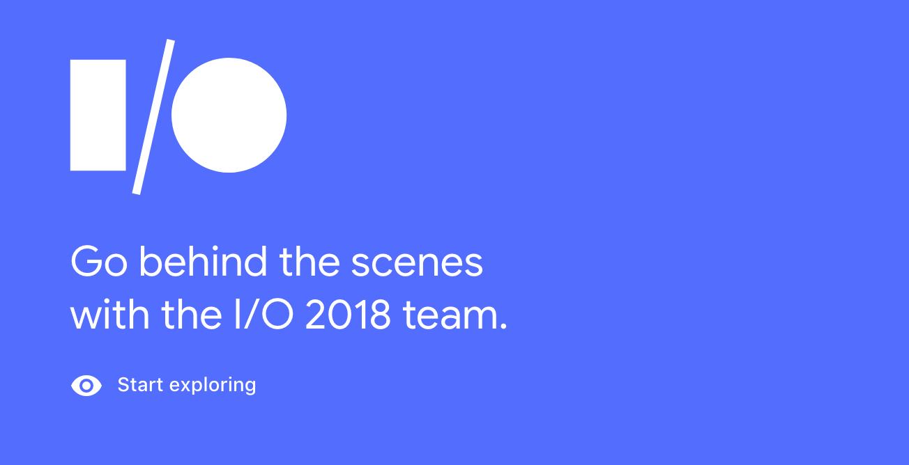 Google I:O 2018 Banner