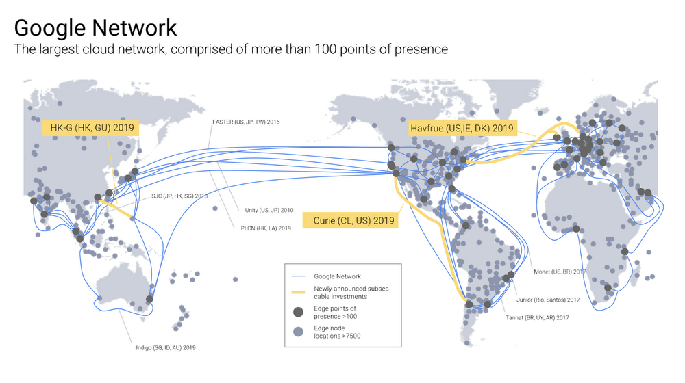 Google Announces Plans for Three New Undersea Data Cables