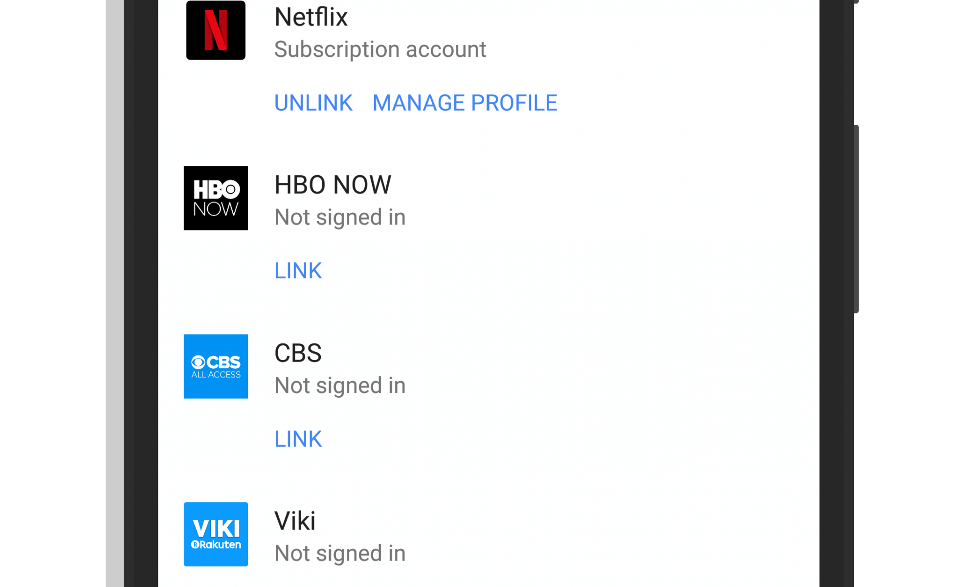 Netflix Profile Manager in Google Home
