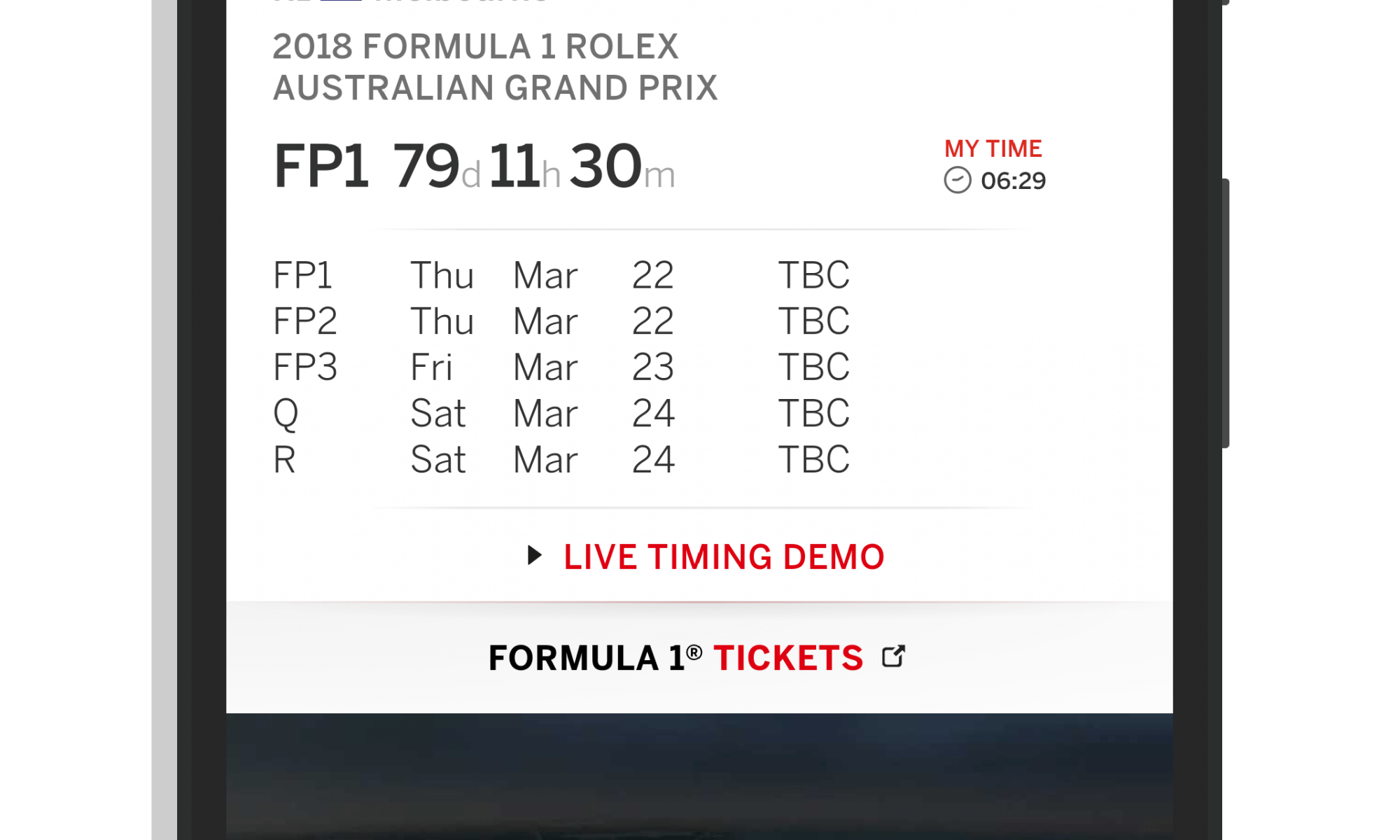 Official F1 App for Android