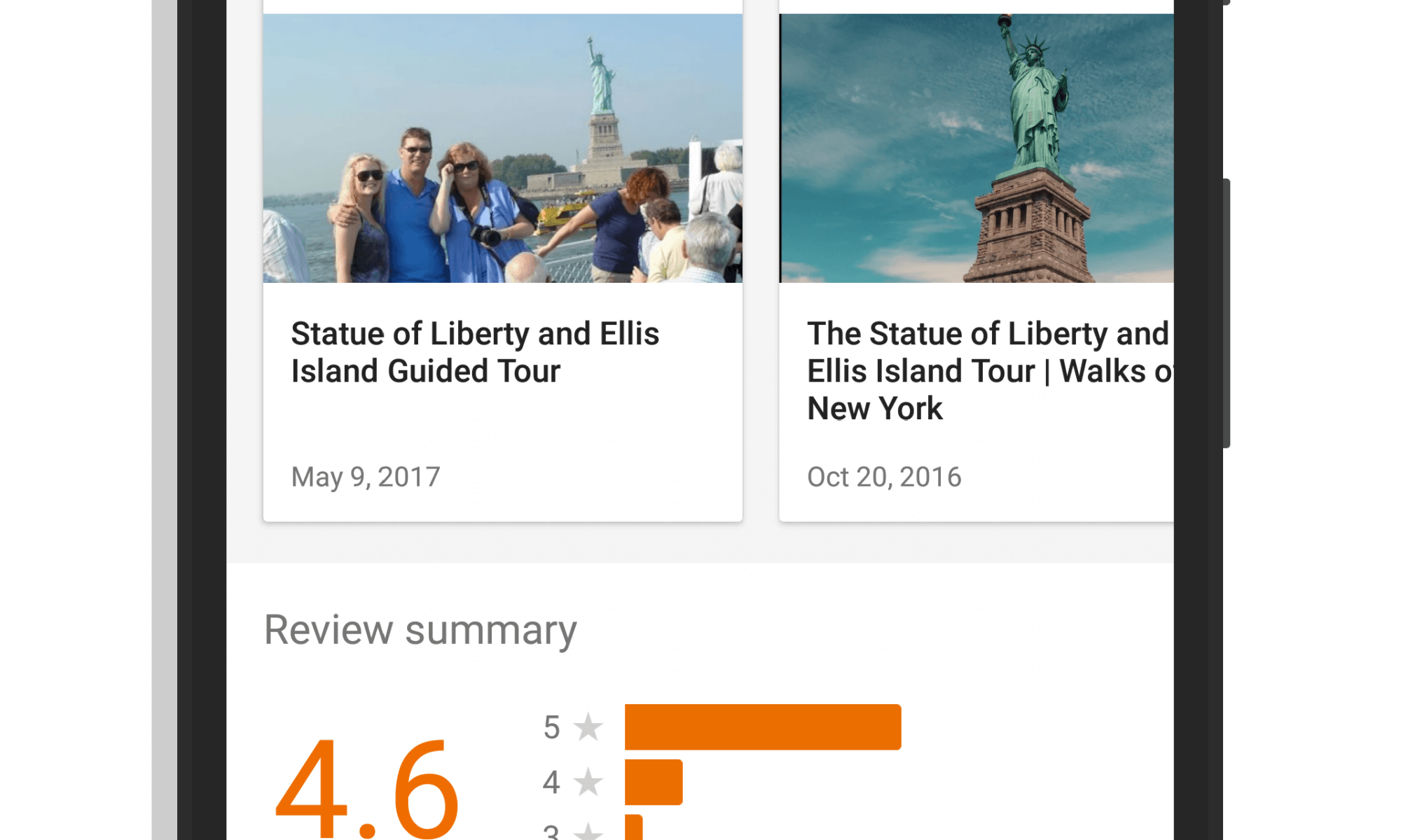 Videos on Places in Google Trips