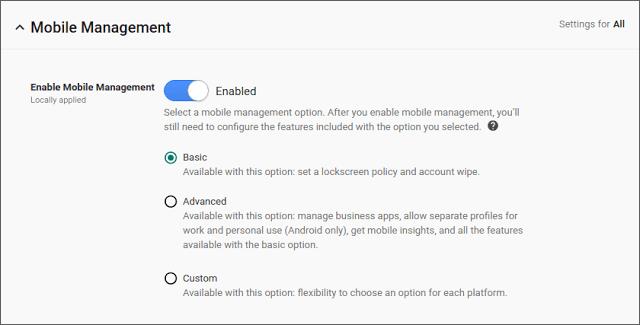 Android MDM Basic