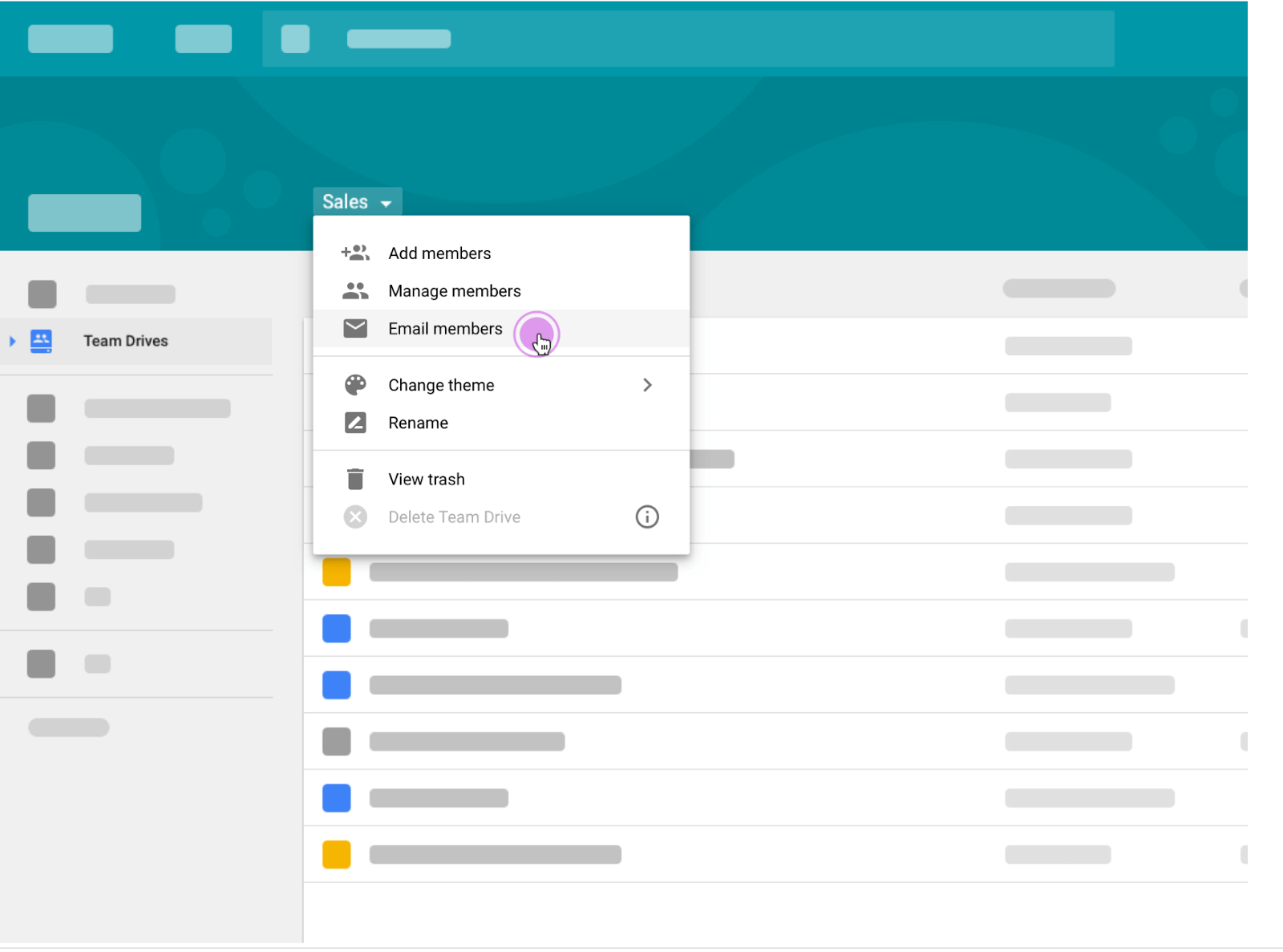 G Suite Team Drive Email Feature