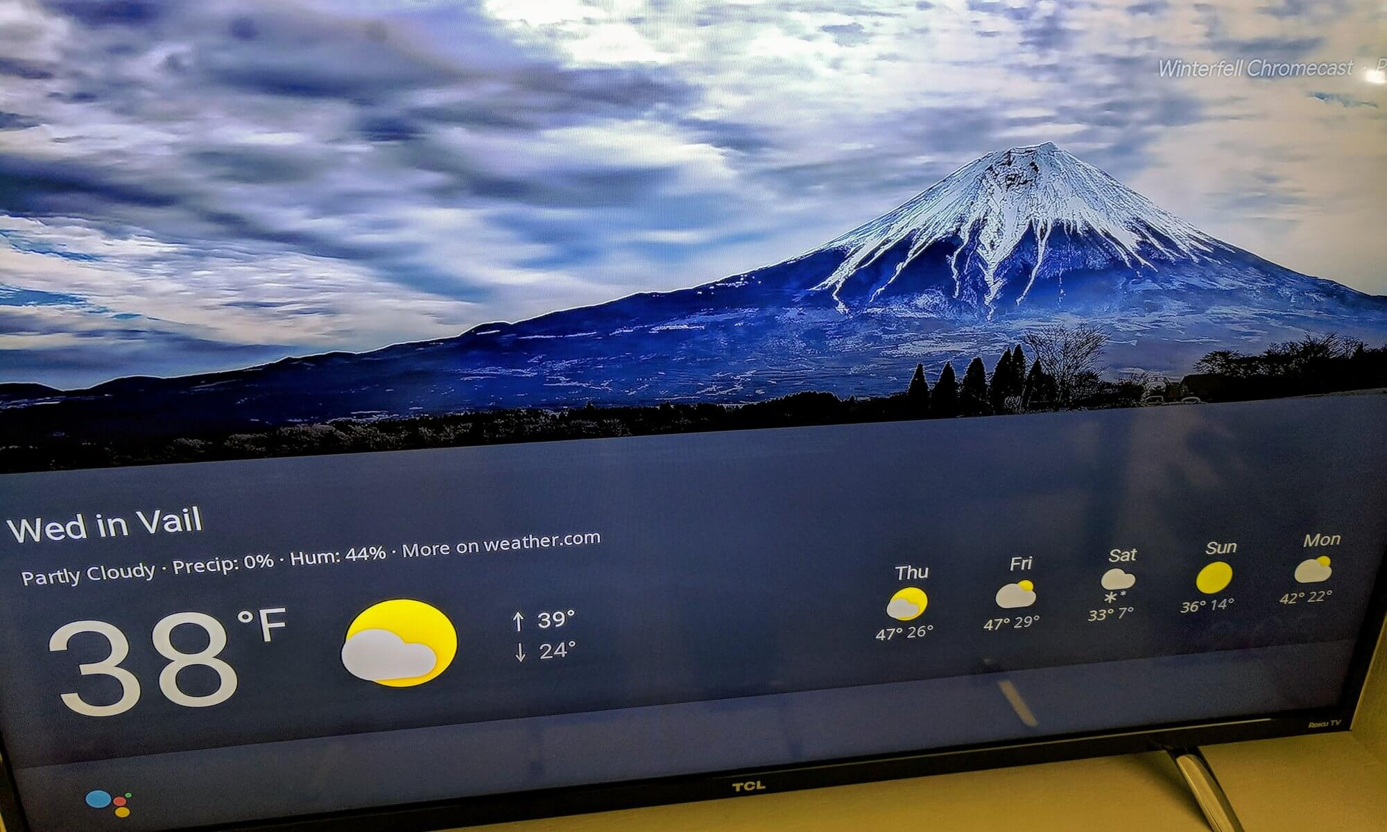 Google Assistant Visual Weather on Chromecast