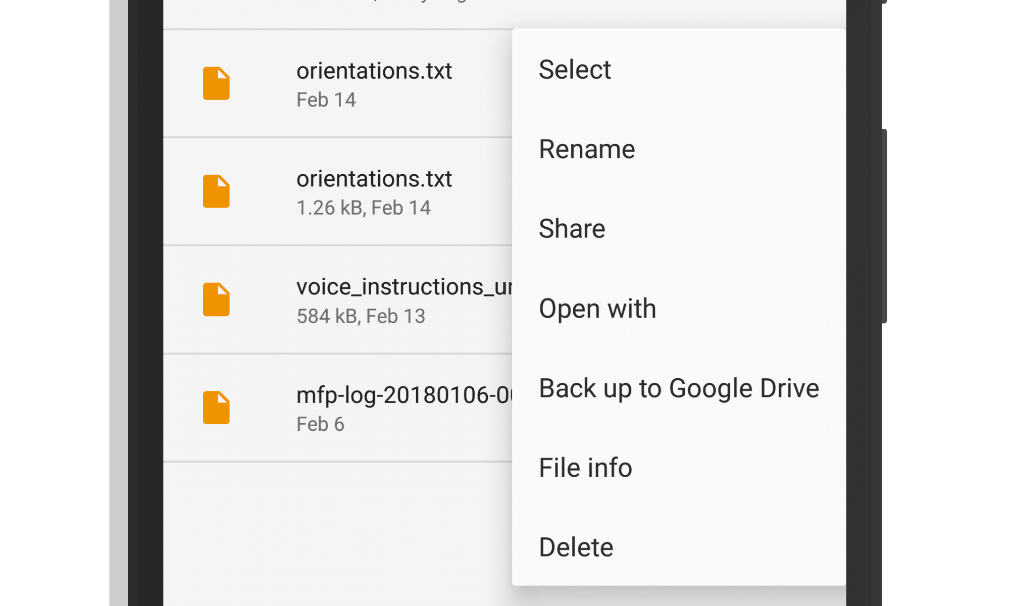 Google Drive Backup in File Go