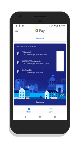 Google Pay Places Nearby