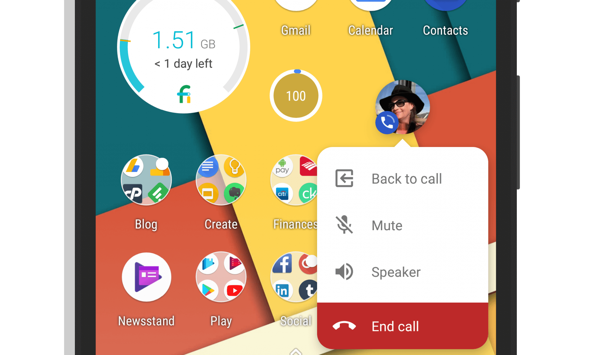 Google Phone App Chat Head