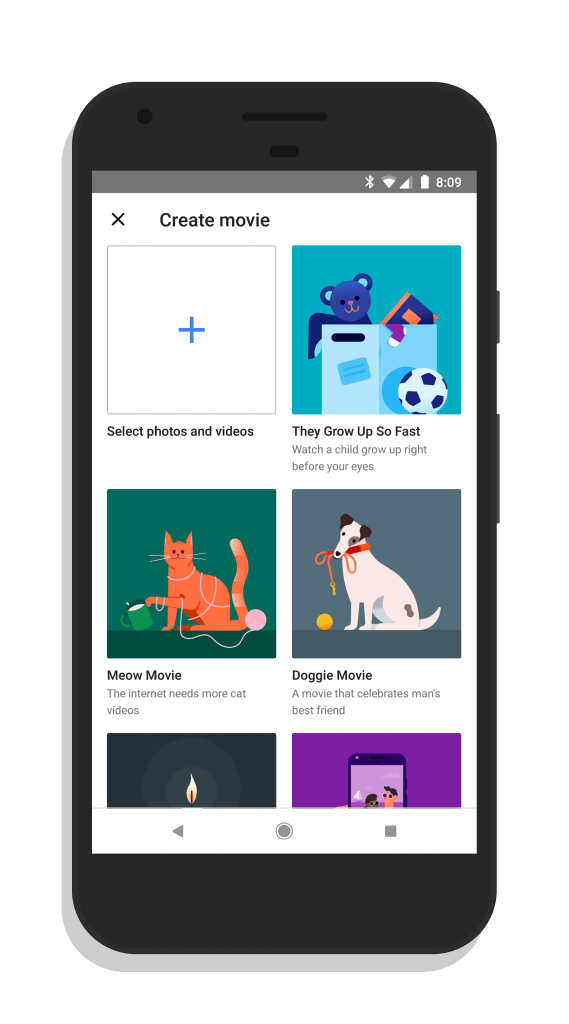 Google Photos Movie Themes