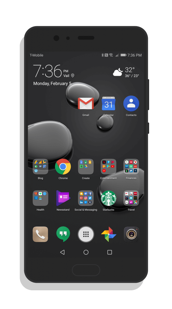 Huawei P10 With The Stone Mate 10 Pro EMUI Theme