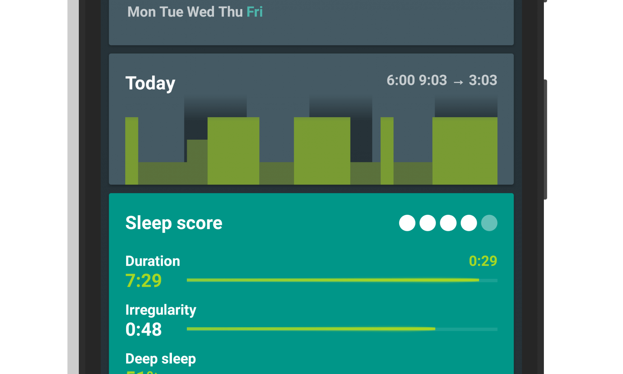 New Dashboard in Sleep as Android