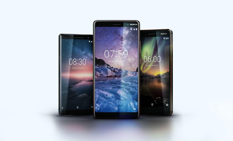 Nokia 6, Nokia 7 Plus and Nokia 8 Sirocco